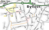 Map of Byfleet