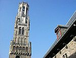 Belfry, Brugge, from the Cloth Hall.jpg