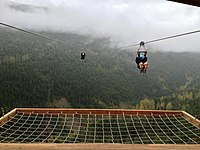 Zip line arival SuperFly Whistler, BC, Canada.JPG
