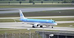 KLM cityhopper aircraft at Munich airport.jpg
