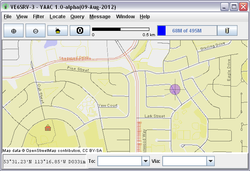 Screenshot of YAAC (Yet Another APRS Client)