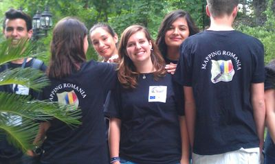 Photo of six people from the Comenius Mapping Party in Romania