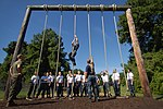US Navy 110714-N-OA833-003 Plebes in the U.S. Naval Academy Class of 2015 receive rope climbing instruction at the school's obstacle course.jpg
