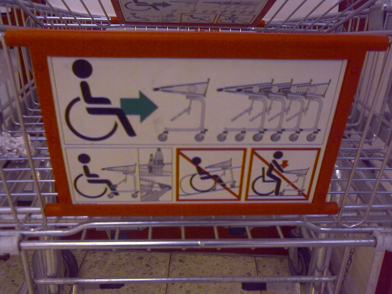 File:Wheelchair trolley sign.jpg