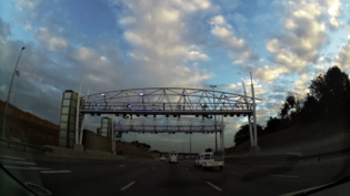 Example of a Electronic Toll Collection (ETC) gantry on the N1 motorway in South Africa.