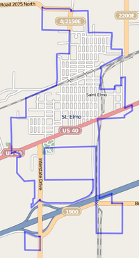 Map of St. Elmo