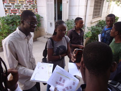 A group of students surveying for OSM in Dakar, Senegal