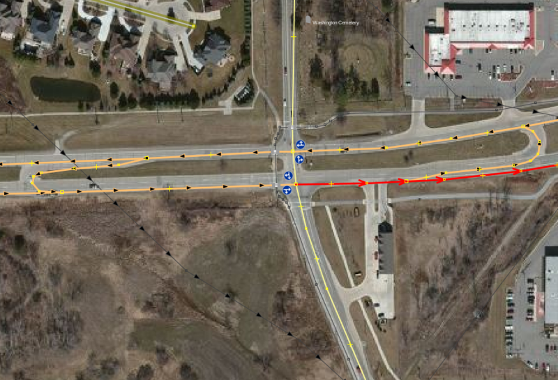 File:MichiganLeft Intersection dualandSingleCarriageway.PNG