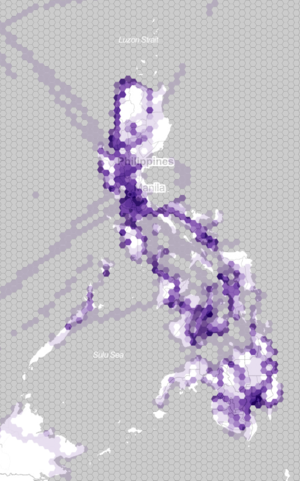 Philippines GPS points hexbin choropleth.png