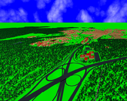 Screenshot of OSM2World