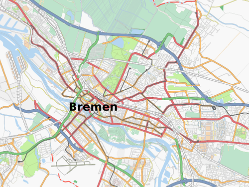 Free map of Bremen