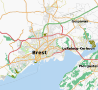 Map of Brest