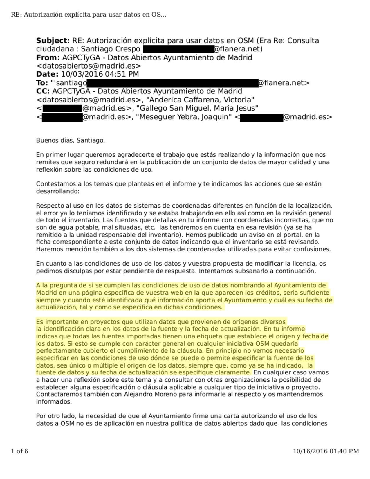 es importación ayuntamiento de madrid openstreetmap wiki
