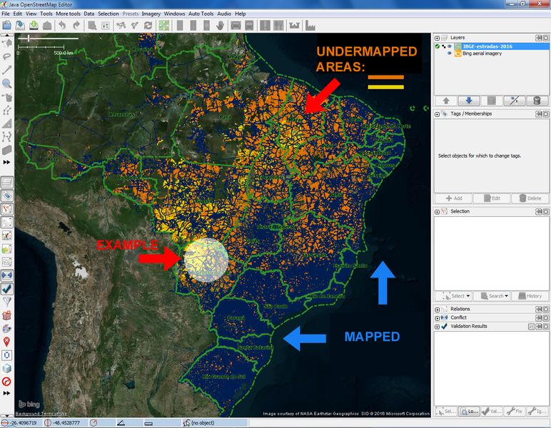 Zoom 5: Identifying and zooming in to undermapped areas (next example highlighted)