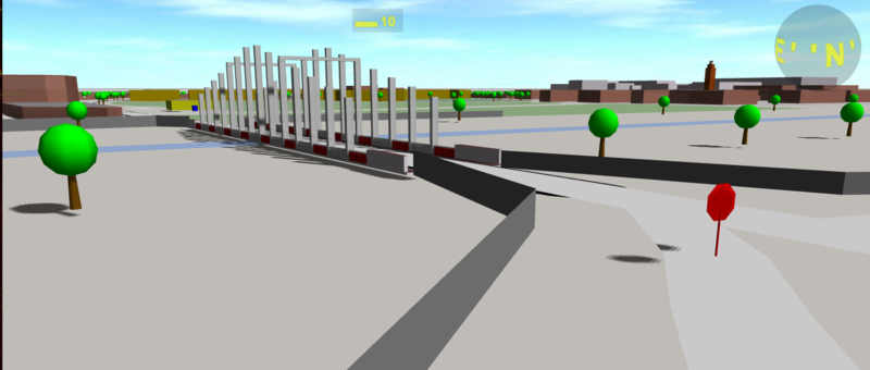A bridge, rendered by OSM building parts