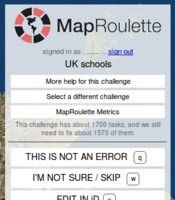 Screenshot of MapRoulette