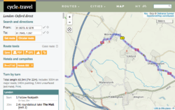 Screenshot of cycle.travel (web)