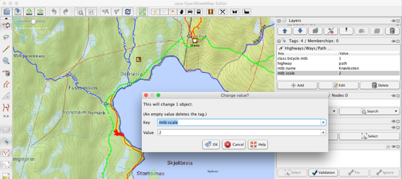 JOSM screenshot- Edit mtb-scale for a path.png