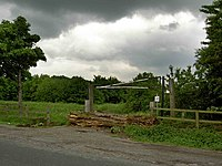 Gate and log barrier - geograph.org.uk - 823358.jpg