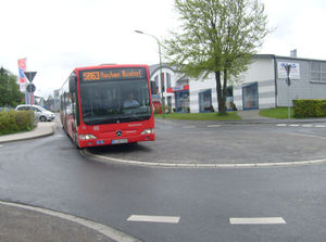 Mini-Roundabout Aachen with Bus.jpg