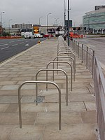 Bike racks at north-west of Westfield - geograph.org.uk - 1041057.jpg