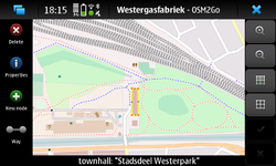 Screenshot of OSM2Go