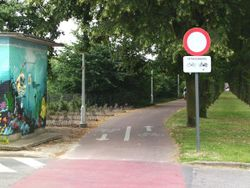 Belgium road path novehicles exceptbicyclesandmopedsa.jpg