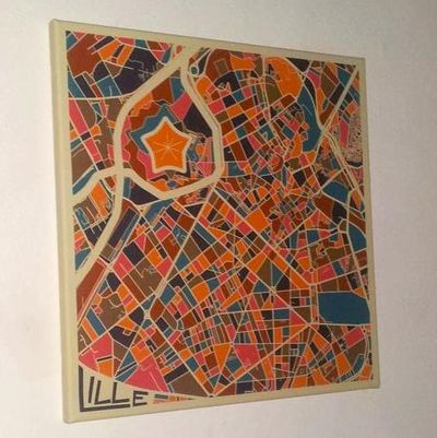 Artistic map of Lille