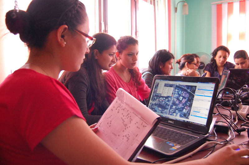 File:Kathmandu Girls Mapping Party.jpg