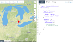 Screenshot of geojson.io
