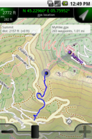 Screenshot of AlpineQuest GPS Hiking