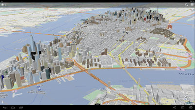 3d data of new york city shown in osg maps this shows the basic extruded buildings with height data from the import plus you can also see some refined