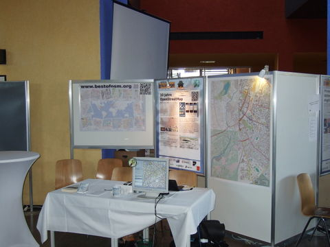 OSM-Stand auf den CLT 2014